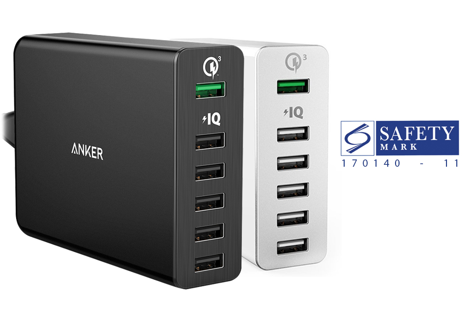 anker usb charger 6 ports 6