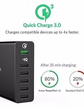 Anker PowerPort+ 6 with Quick Charge 3.0 USB Charging Station