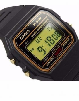 CASIO Digital Watch F91WG-9S Gold Design