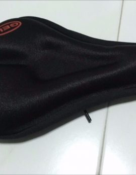 Padded Silicone Gel Bike Saddle Cover (Thicker Gel Cushion & larger surface area)