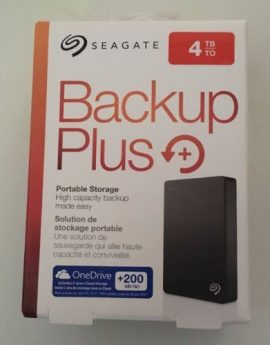 Seagate Backup Plus 4TB Portable External Hard Drive