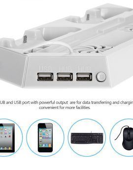 3 in 1 Vertical Charging Stand For PS4 Slim Console