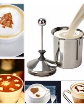 800mL Stainless Steel Milk Frother Double Mesh Milk Foam Maker