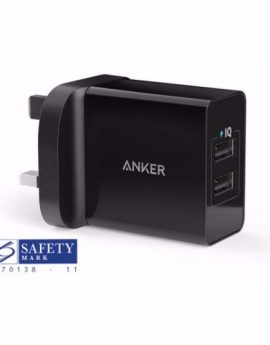 Anker 24W 2 Ports USB Charger (Black)