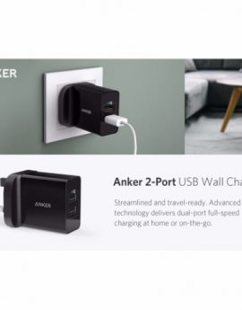 Anker 24W 2 Ports USB Charger (White)