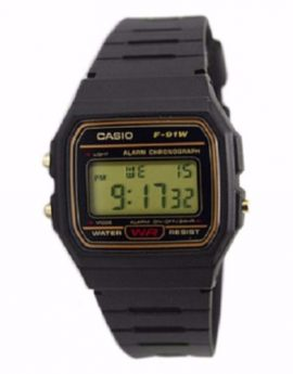 CASIO Digital Watch F91WG-9S Gold Design