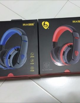 MX666 Bluetooth 4.0 Stereo Headphone (Blue)