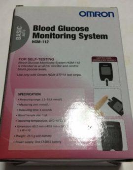 OMRON Blood Glucose Monitoring System (Blood Glucose Meter + 25 test strips + 25 lancets)
