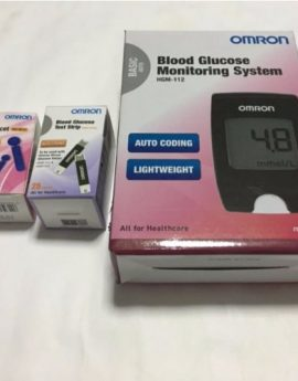 OMRON Blood Glucose Monitoring System (Blood Glucose Meter + 25 test strips + 25 lancets)