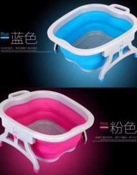 Relaxing Foot Spa / Foot Bath Massage Basin (Blue/Pink)