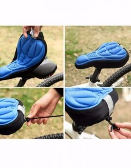 Silicone Gel Pad Bicycle Seat Saddle Cover, Soft Cushion for all Kinds of Bikes
