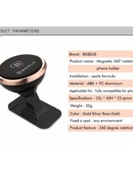 Baseus Phone Holder For Car Strong magnetic absorption