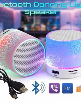 Wireless Bluetooth Mini Speaker With Colourful LED Light
