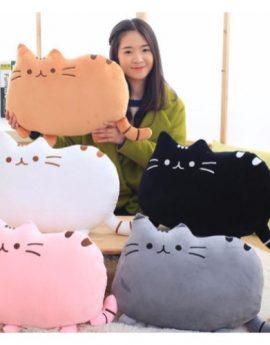 Soft Plush Cartoon Cat Cotton Pillow