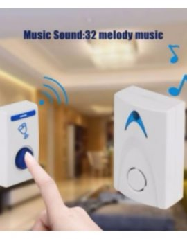 Wireless LED Doorbell With Wireless Remote control 32 Tunes